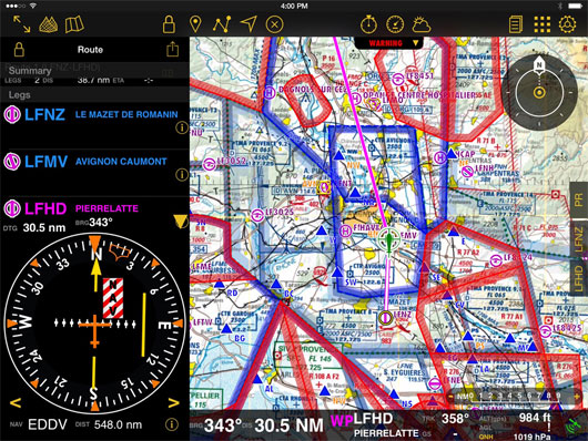 air navigation screenshot